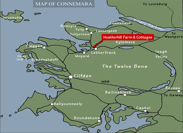 Map of Connemara